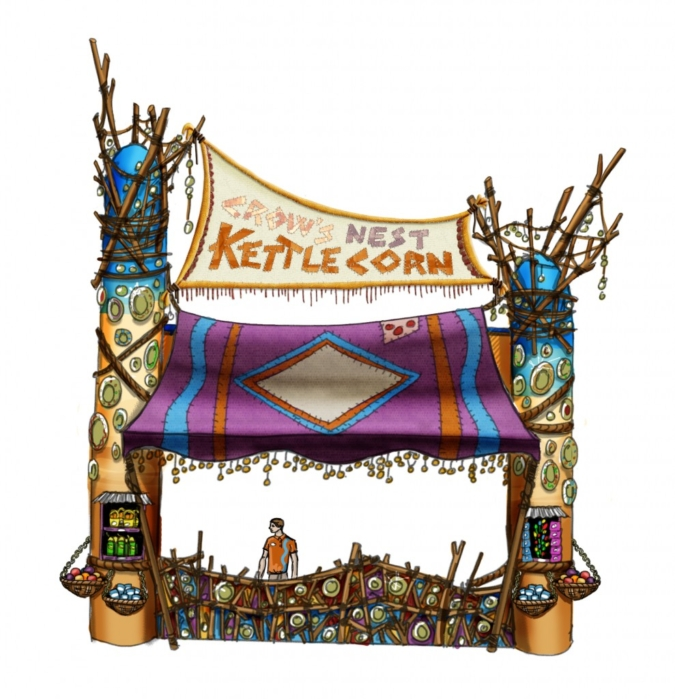 Kettle Corn kiosk design