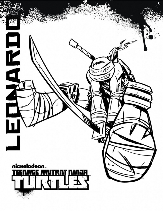 t ninja turtles coloring pages - photo #40