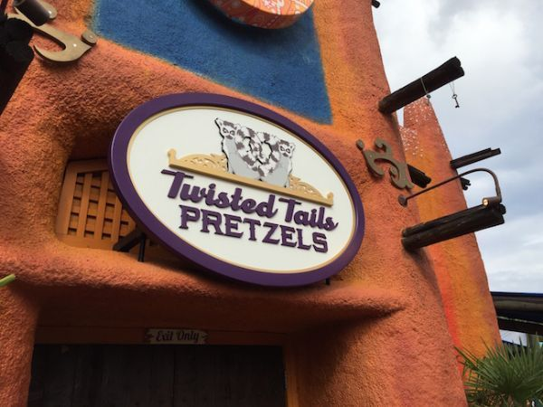 Twisted Tails Pretzels sign design