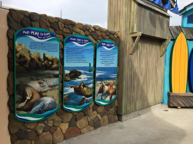Sea Lion Educational Signage