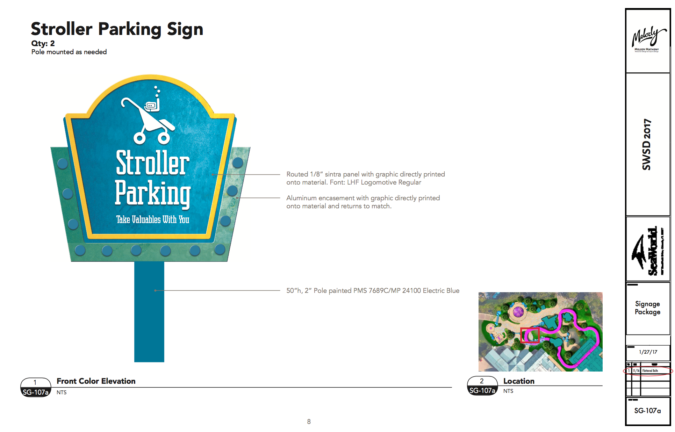 Stroller Parking Sign Design