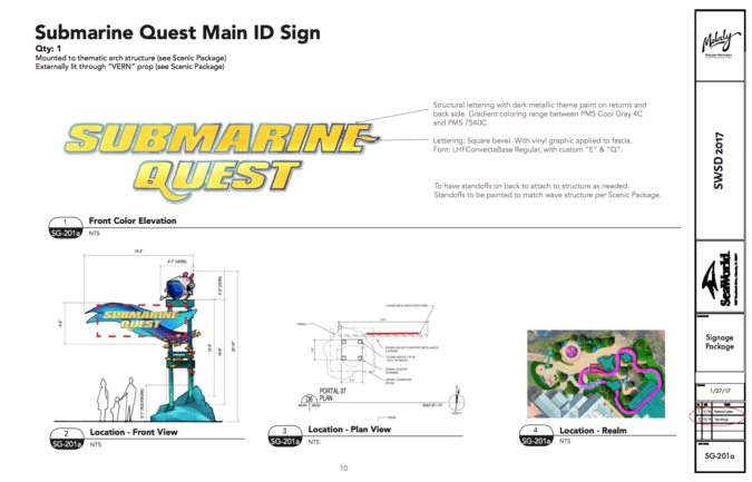 Submarine Quest ID Sign design
