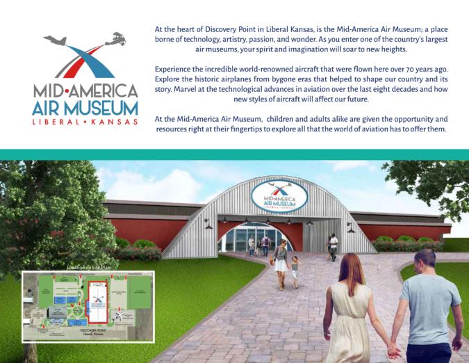 Key Art, Logo and Creative Narrative of entrance into existing renovated Aviation Museum