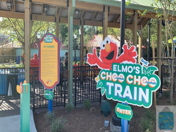 Elmo's Choo Choo Train Signage