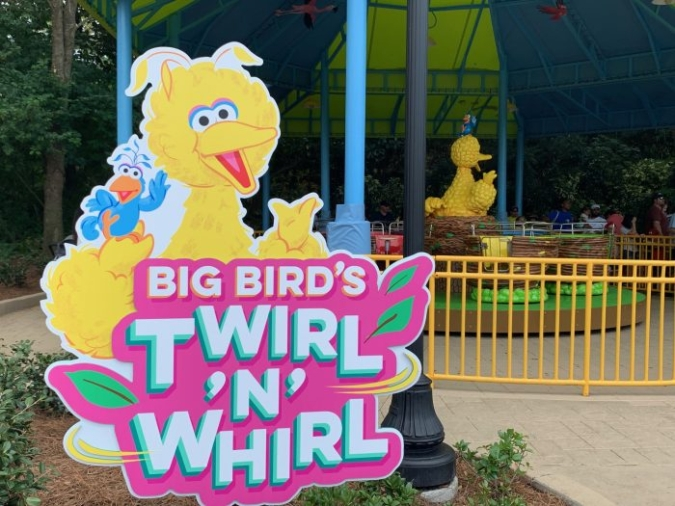 Big Bird's Twirl N Whirl ID Sign