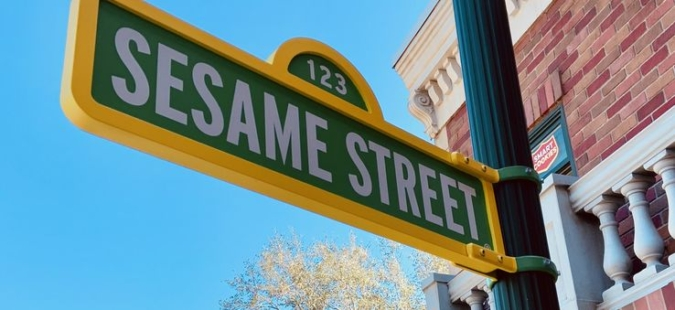 Iconic Sesame Street Sign