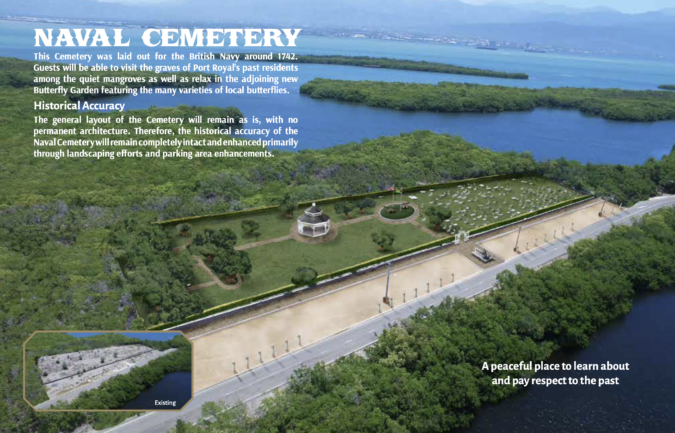 Concept artwork of potential Naval Cemetery renovation